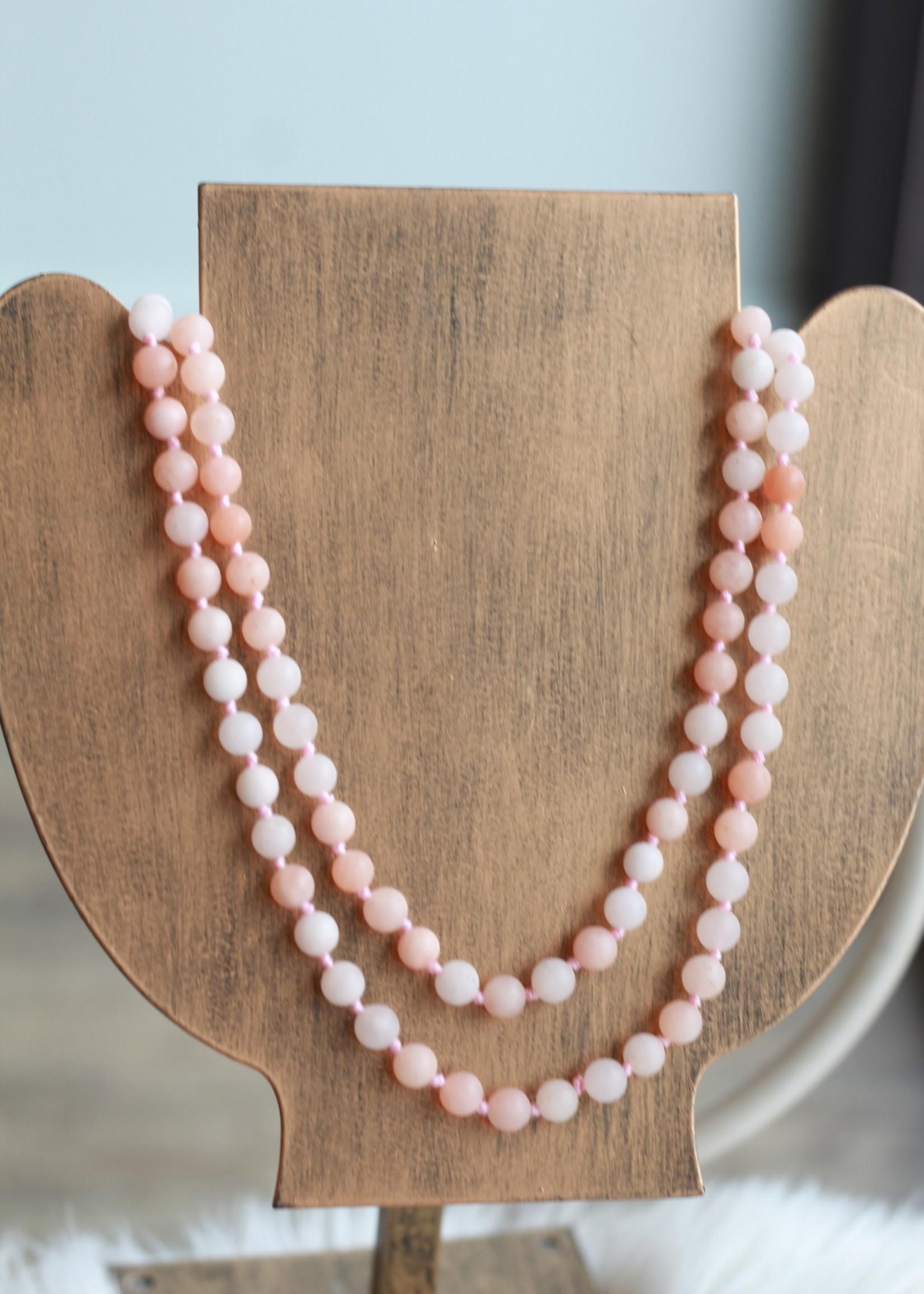 Erin McDermott Grapefruit Beaded Necklace