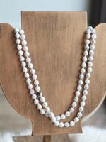 Erin McDermott White Beaded Necklace