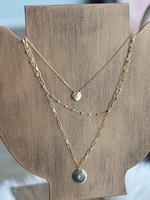 Erin McDermott Joie De Vivre Triple Layer Gold Necklace