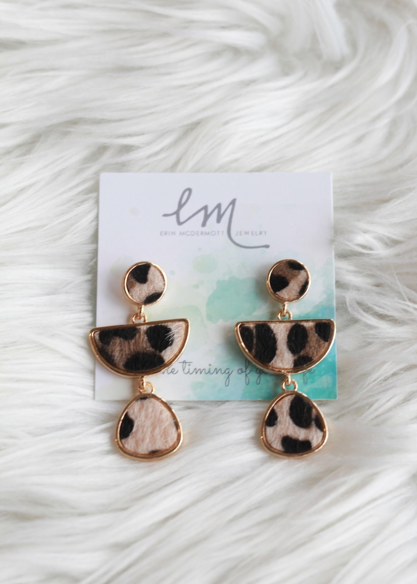 Erin McDermott Leopard Dangle Earrings