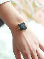 Allison Conway AC Black Square Geode Bracelet