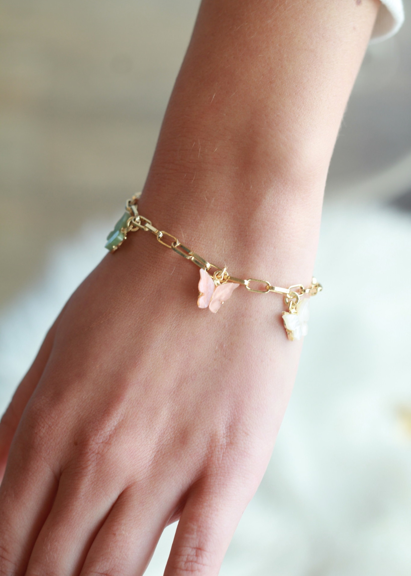 Allison Conway AC Butterfly Charm Bracelet