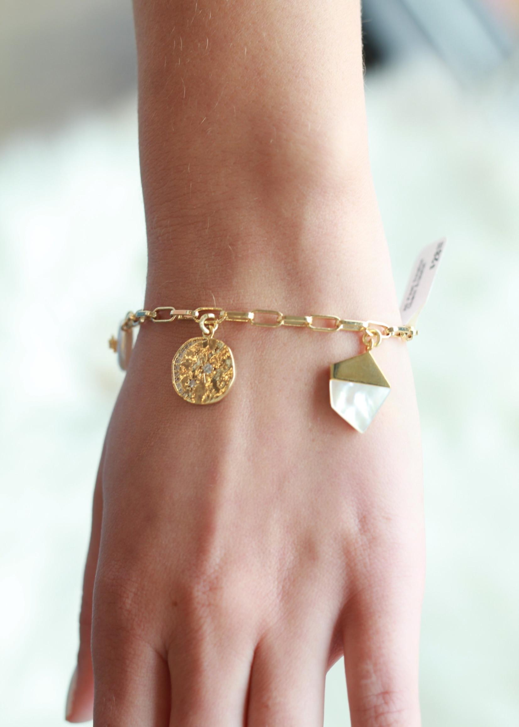 Allison Conway AC Pearl Solstice Charm Bracelet