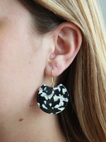 Allison Conway AC Black & White Drop Earrings
