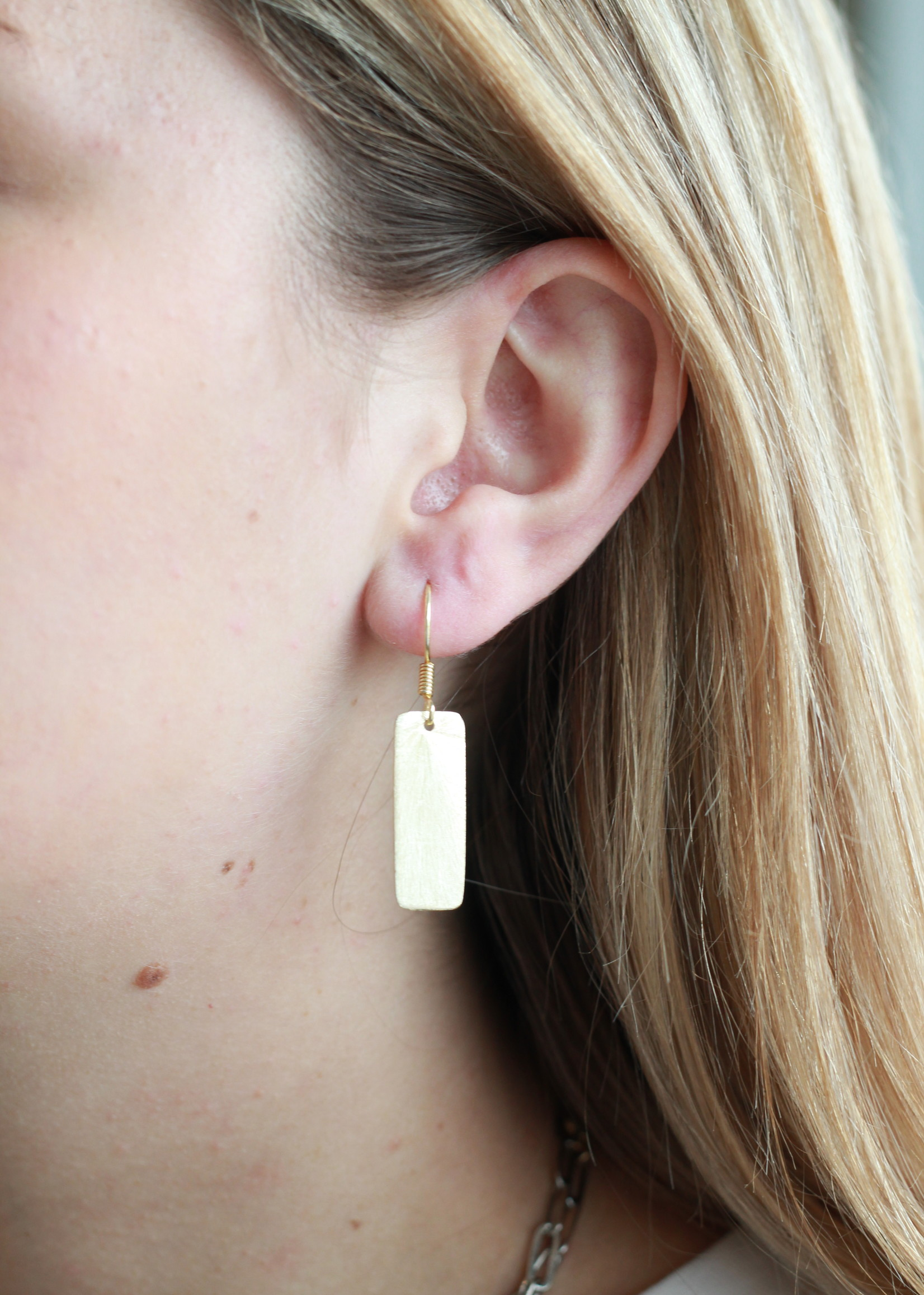 Allison Conway AC Medium Solid Rectangle Earrings