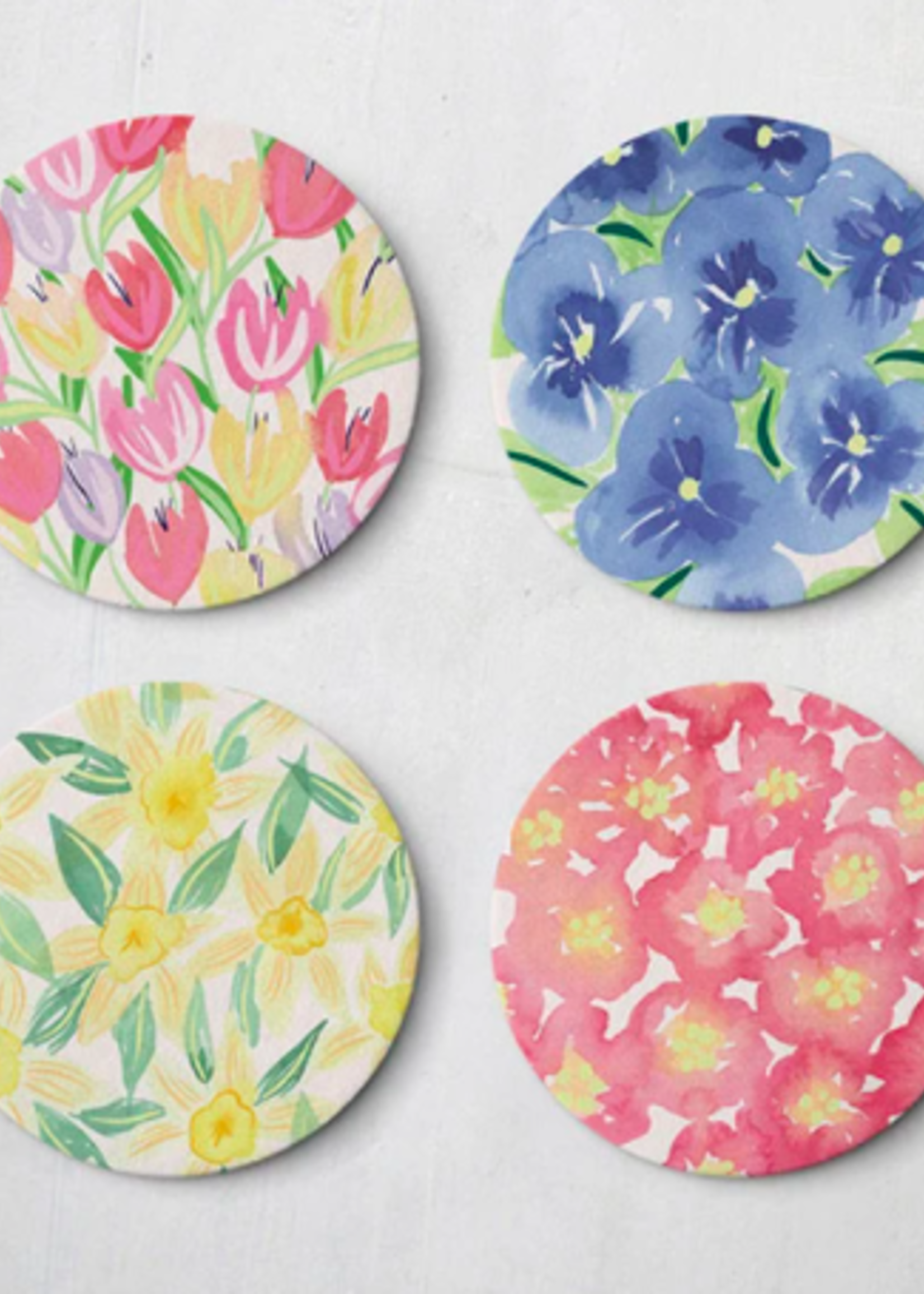 One & Only Paper Spring Watercolor Floral Coasters