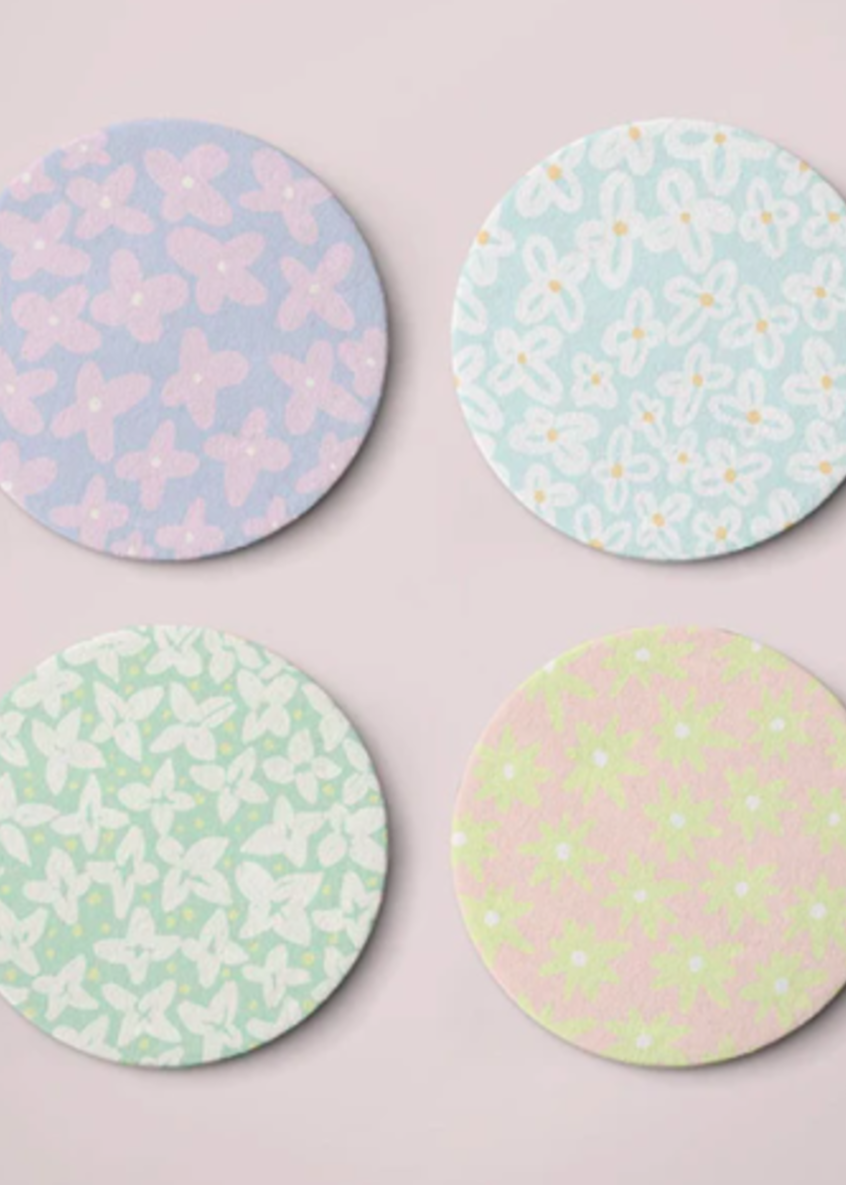 One & Only Paper Assorted Flower Power Coasters