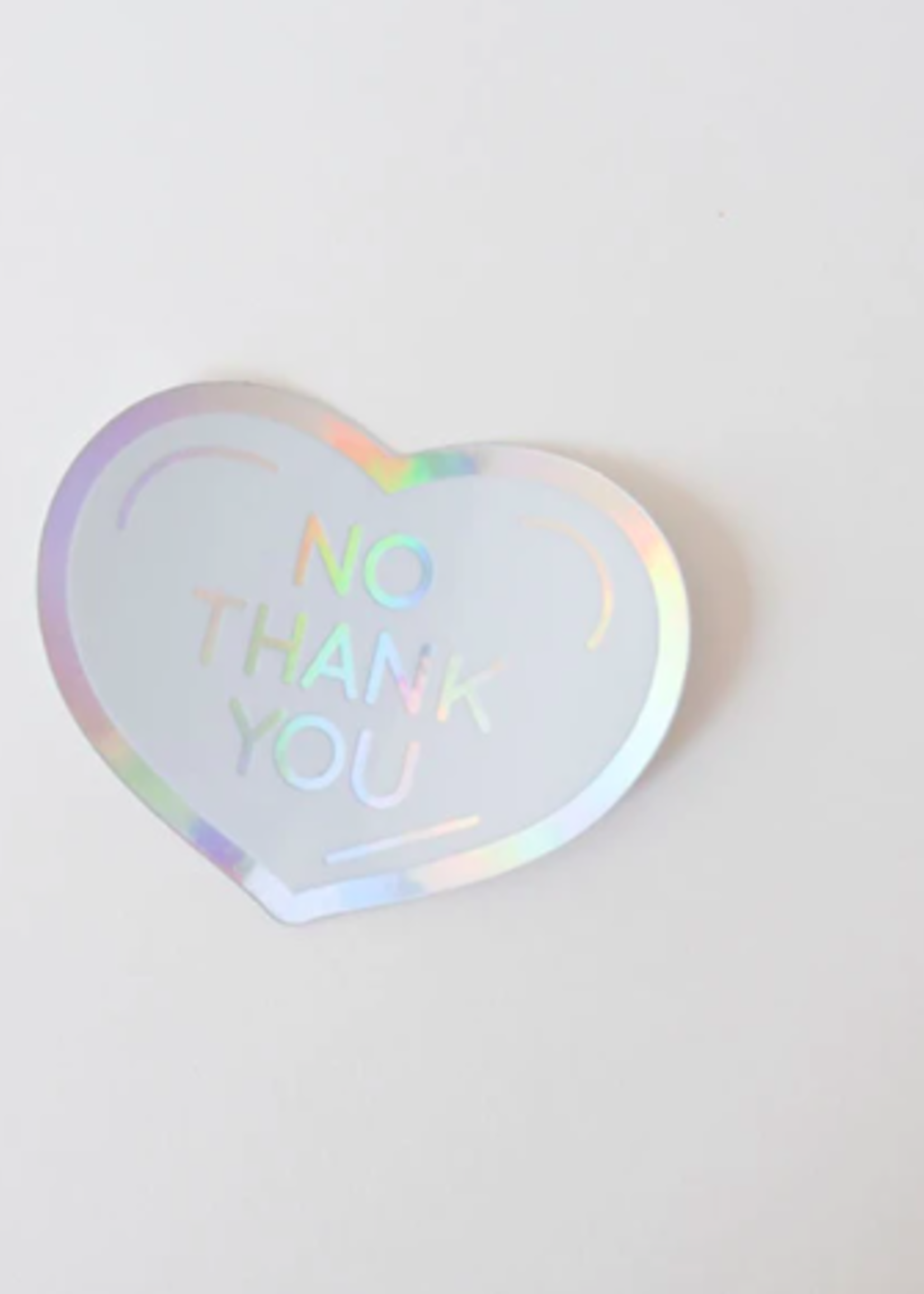 One & Only Paper No Thank You Holographic Sticker
