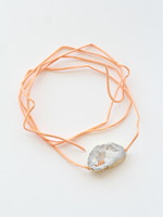 White on Orange Wrap Bracelet