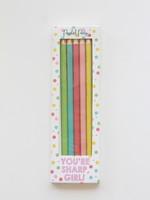 Sharp Girl Pencil Set