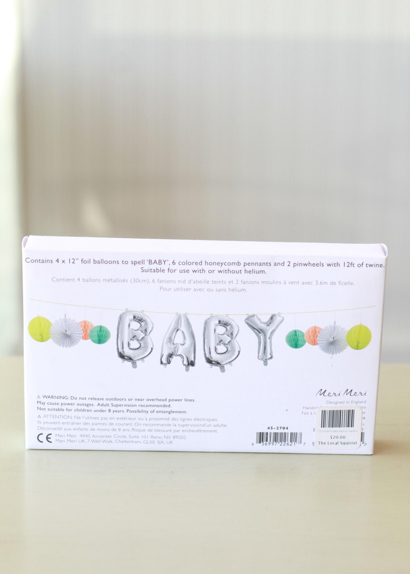Baby Balloon Garland