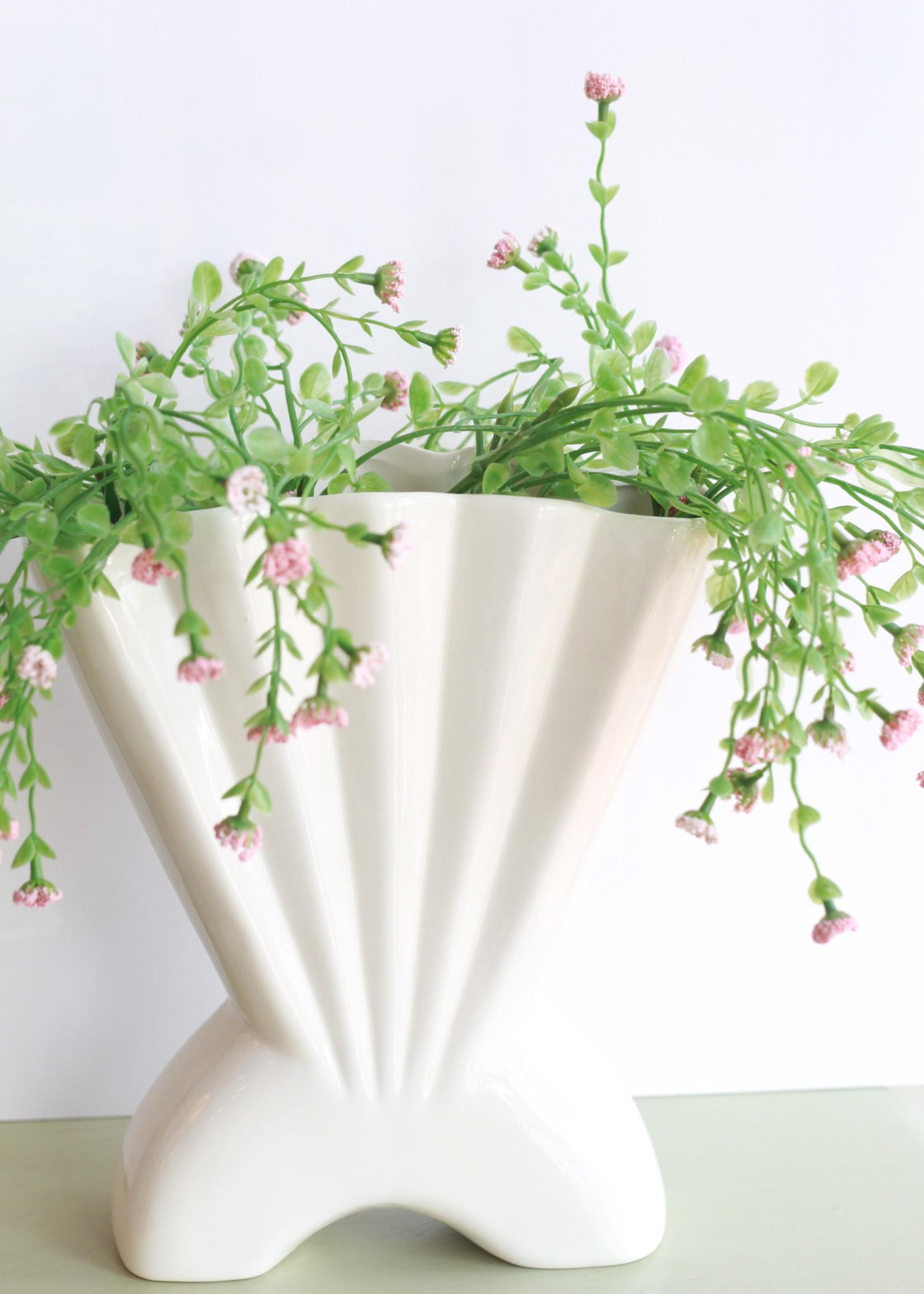 White Mermaid Shell Vase