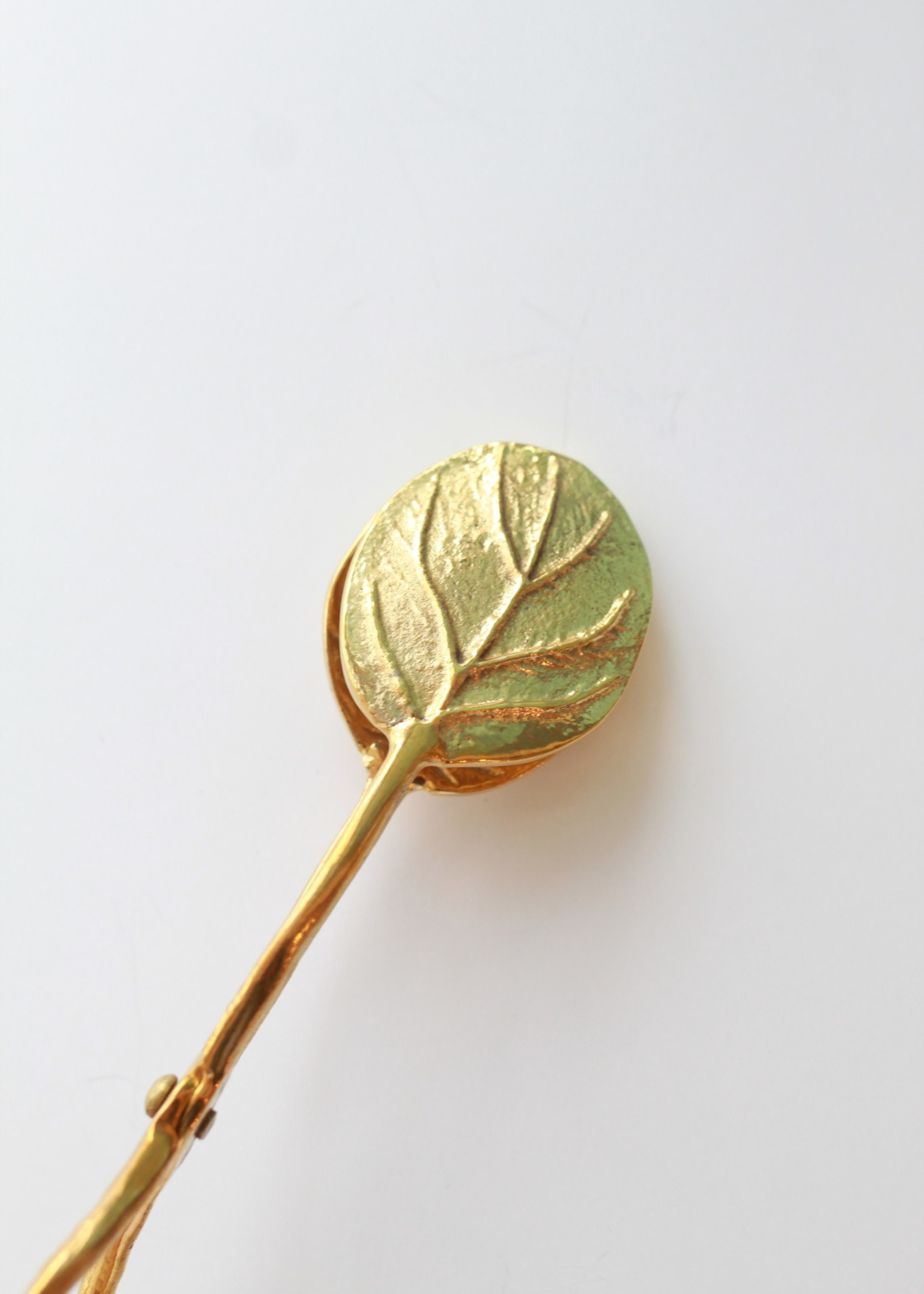 Brass Leaf Tongs