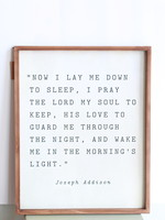 "Wood Framed Wall Decor ""Now I Lay Me Down To Sleep"""