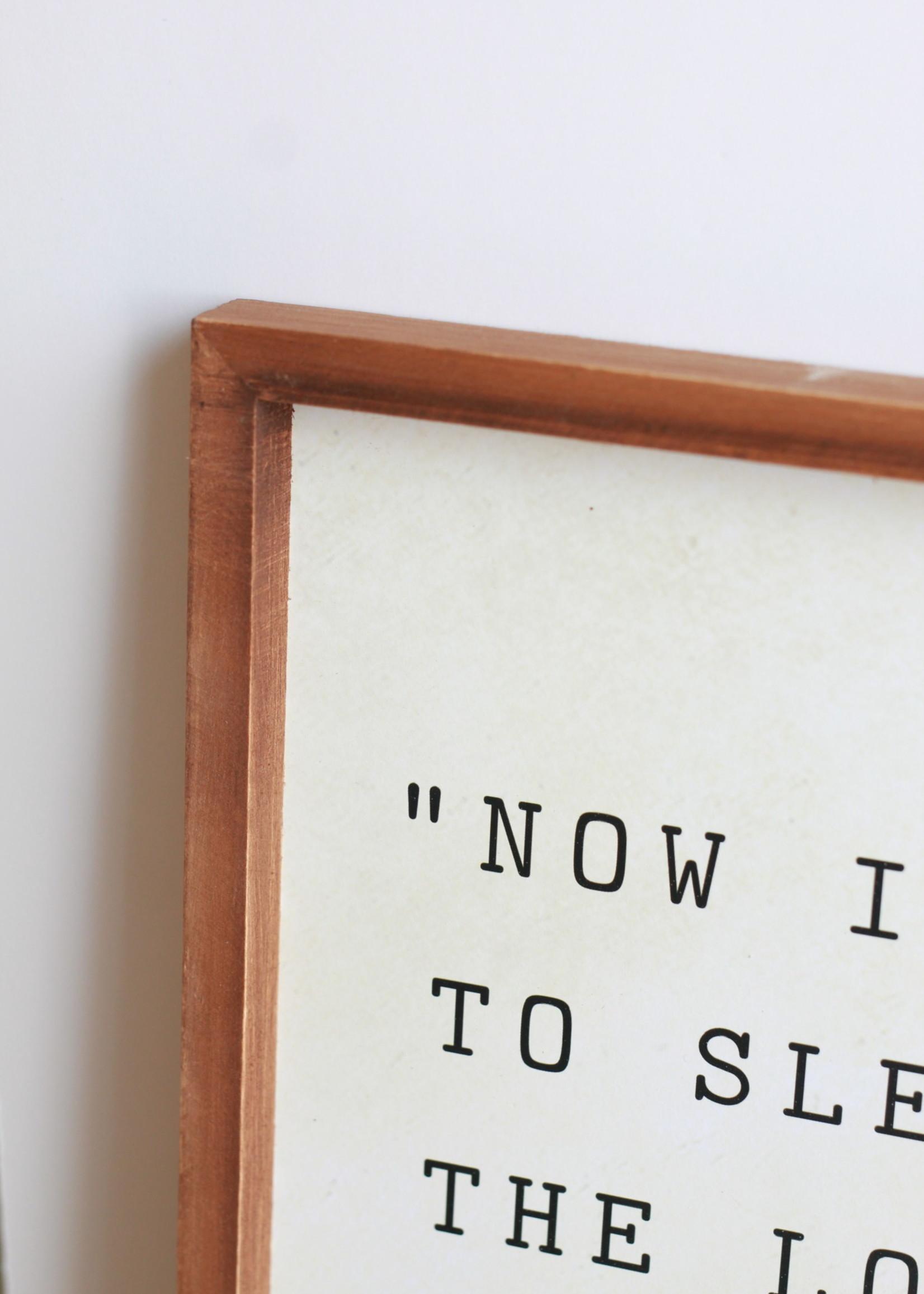 "Wood Framed Wall Decor ""Now I Lay Me Down To Sleep"""