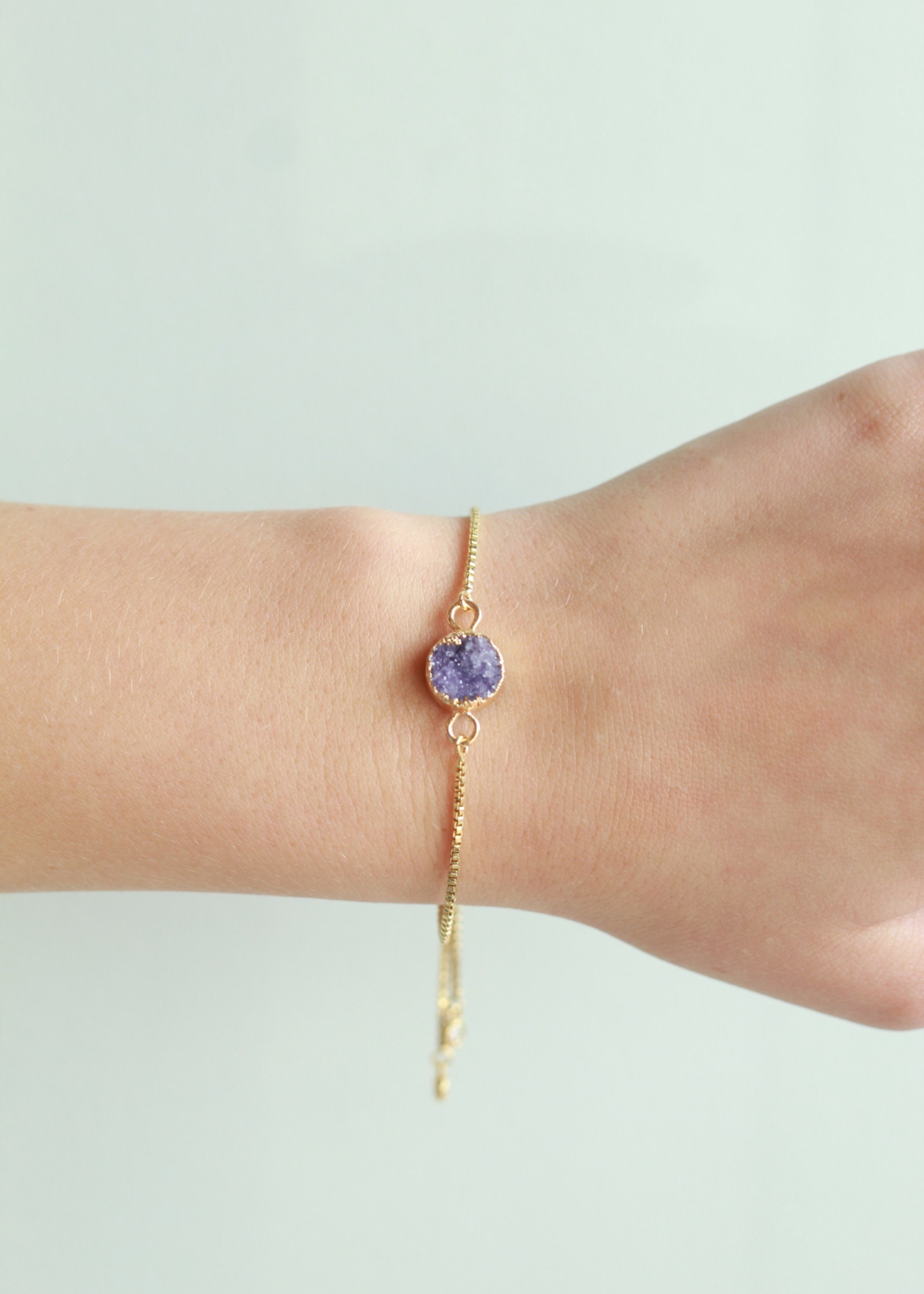 Allison Conway AC Bright Purple Druzy Bracelet