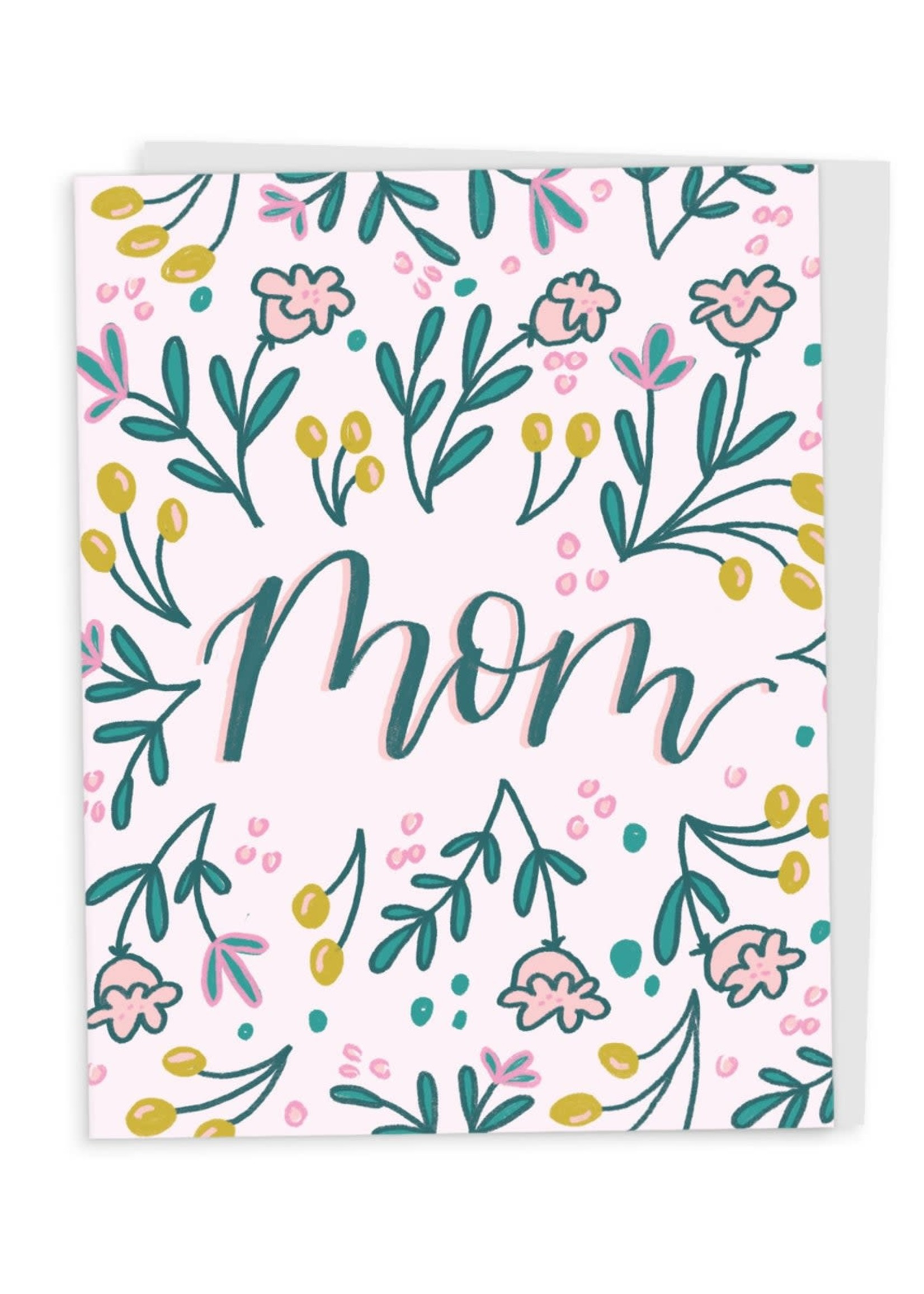 Happy Tines Mom Flower Doodle Mother's Day Card