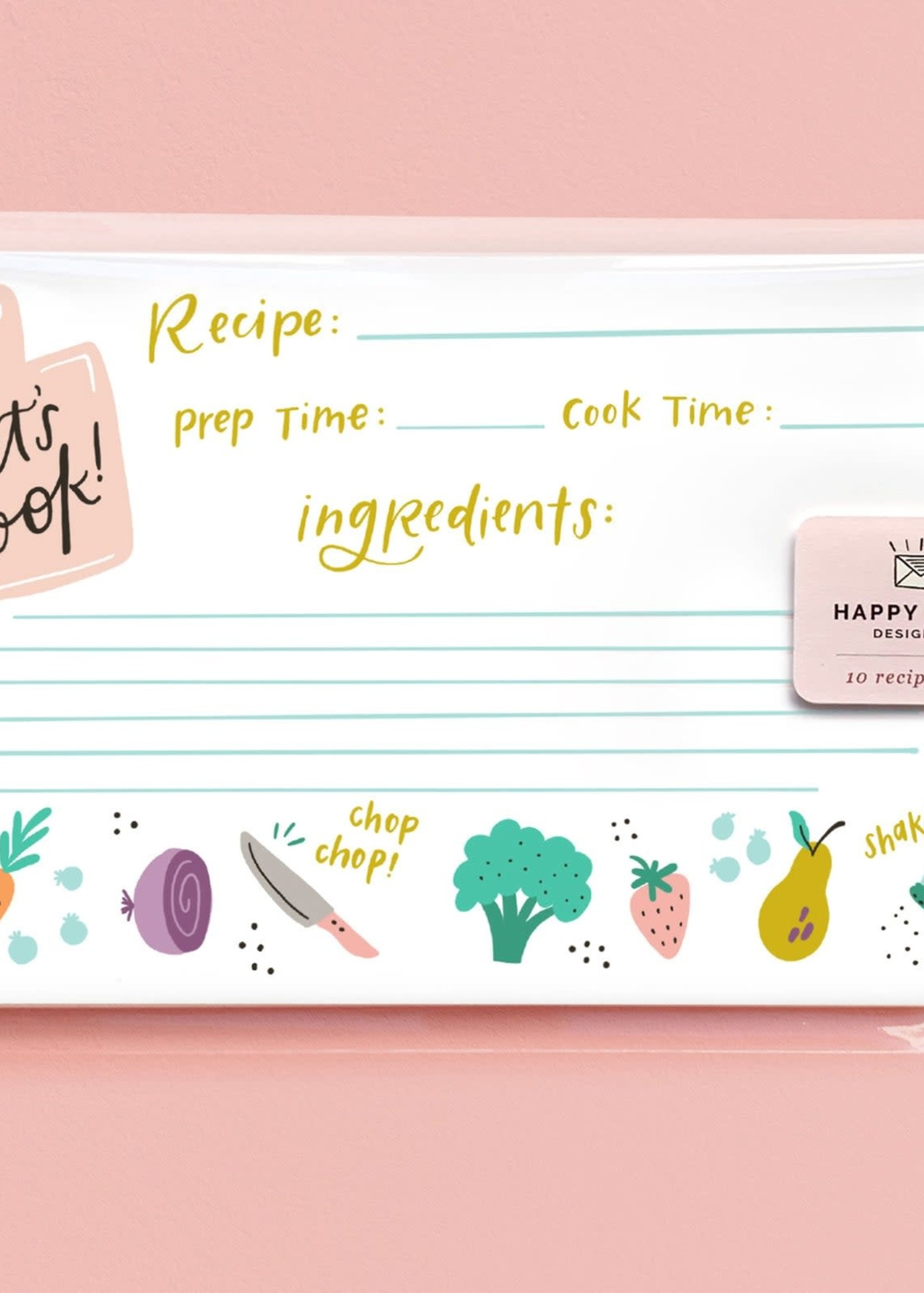 Happy Tines Let's Cook Recipe Cards