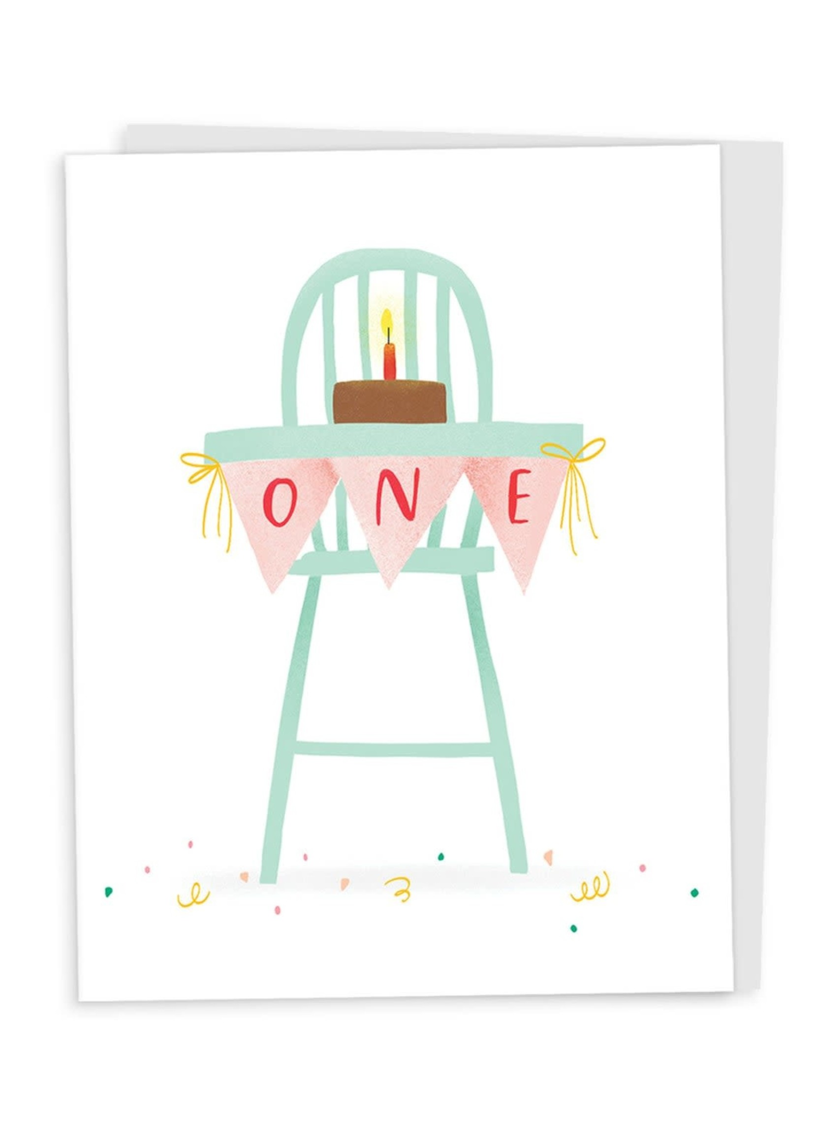 Happy Tines One High Chair Birthday Card