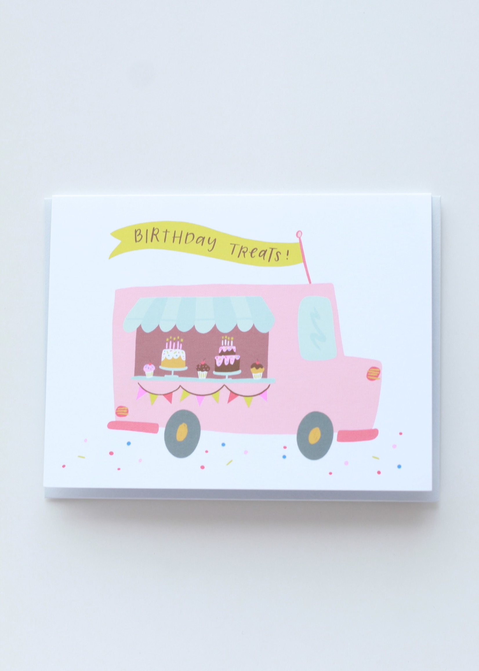 Happy Tines Bday Treat Truck Card