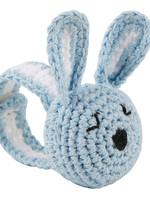 Crochet Wristlet Blue Bunny