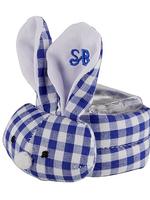 Blue Gingham Boo-Bunny