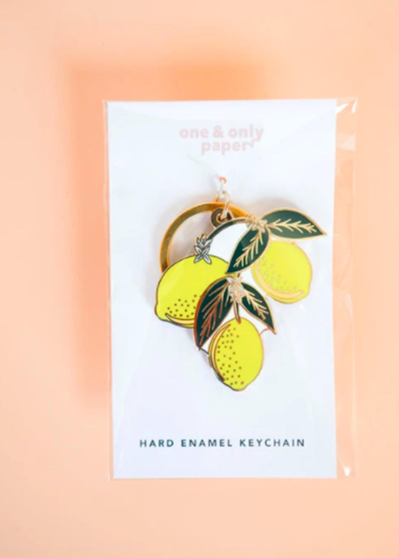 One & Only Paper Lemons Hard Enamel Keychain