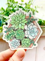 Elyse Breanne Design Watercolor Succulent Planter Sticker