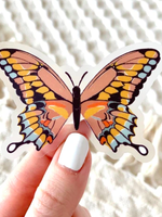 Elyse Breanne Design Pink Swallowtail Butterfly
