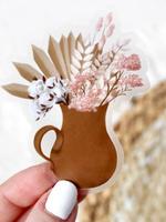 Elyse Breanne Design Clear Clay Pitcher Bouquet Sticker