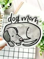 Elyse Breanne Design Watercolor Dog Mom Sticker