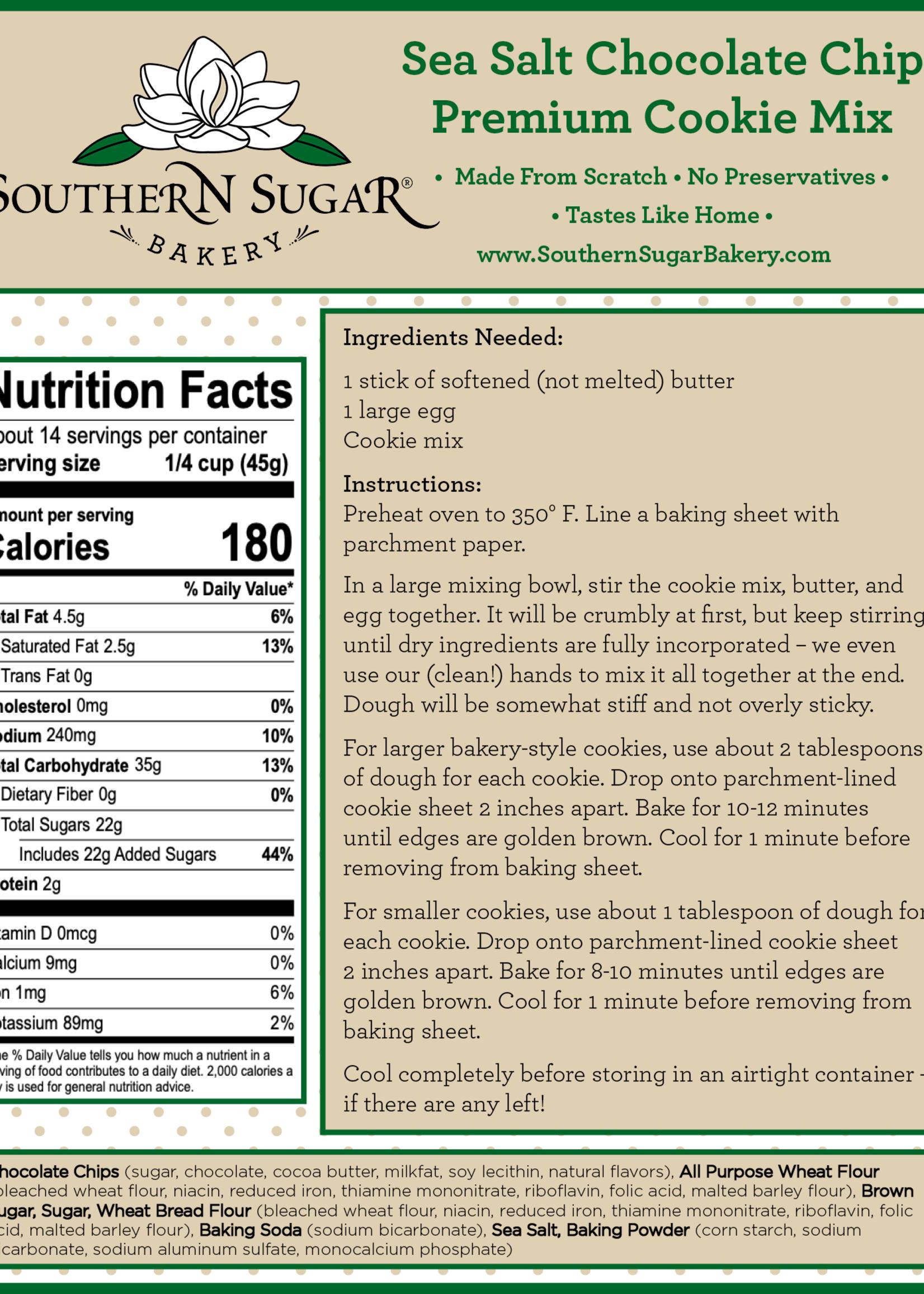 Southern Sugar Bakery Sea Salt Chocolate Chip Premium Cookie Mix