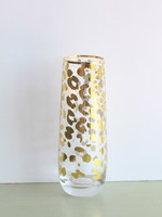 Gold Leopard Champagne Flute 8oz