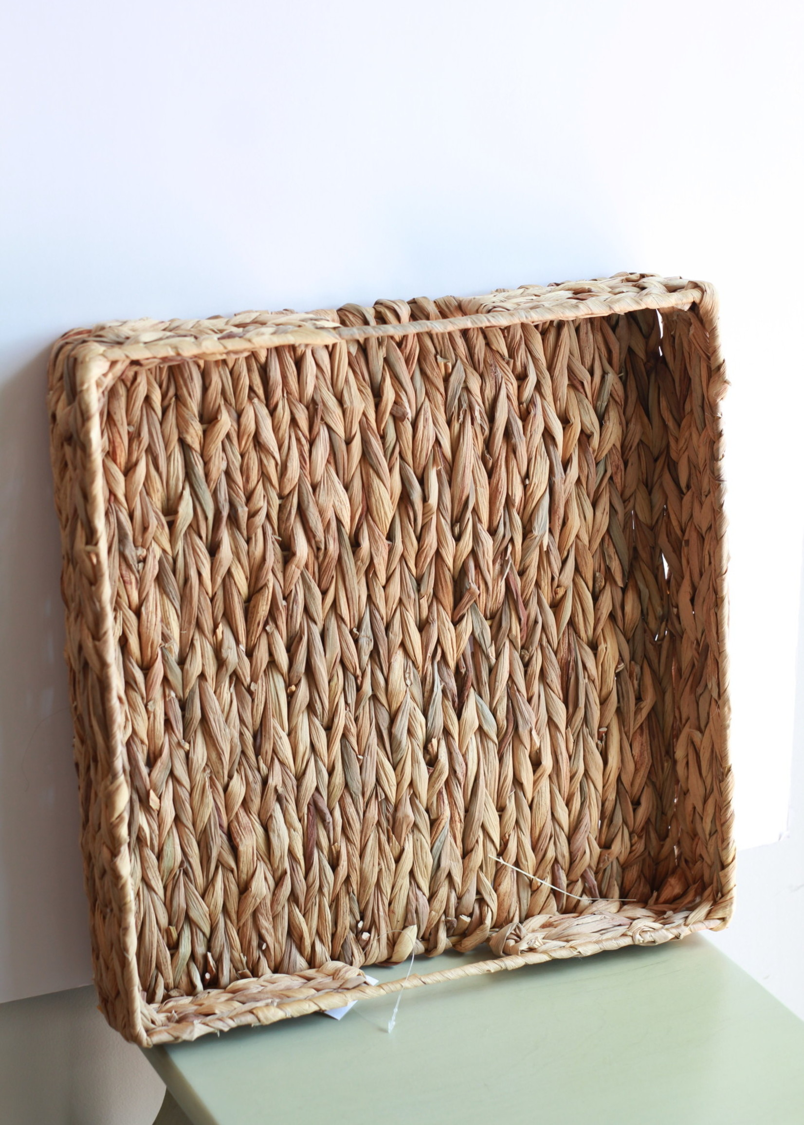 Square Natural Woven Tray