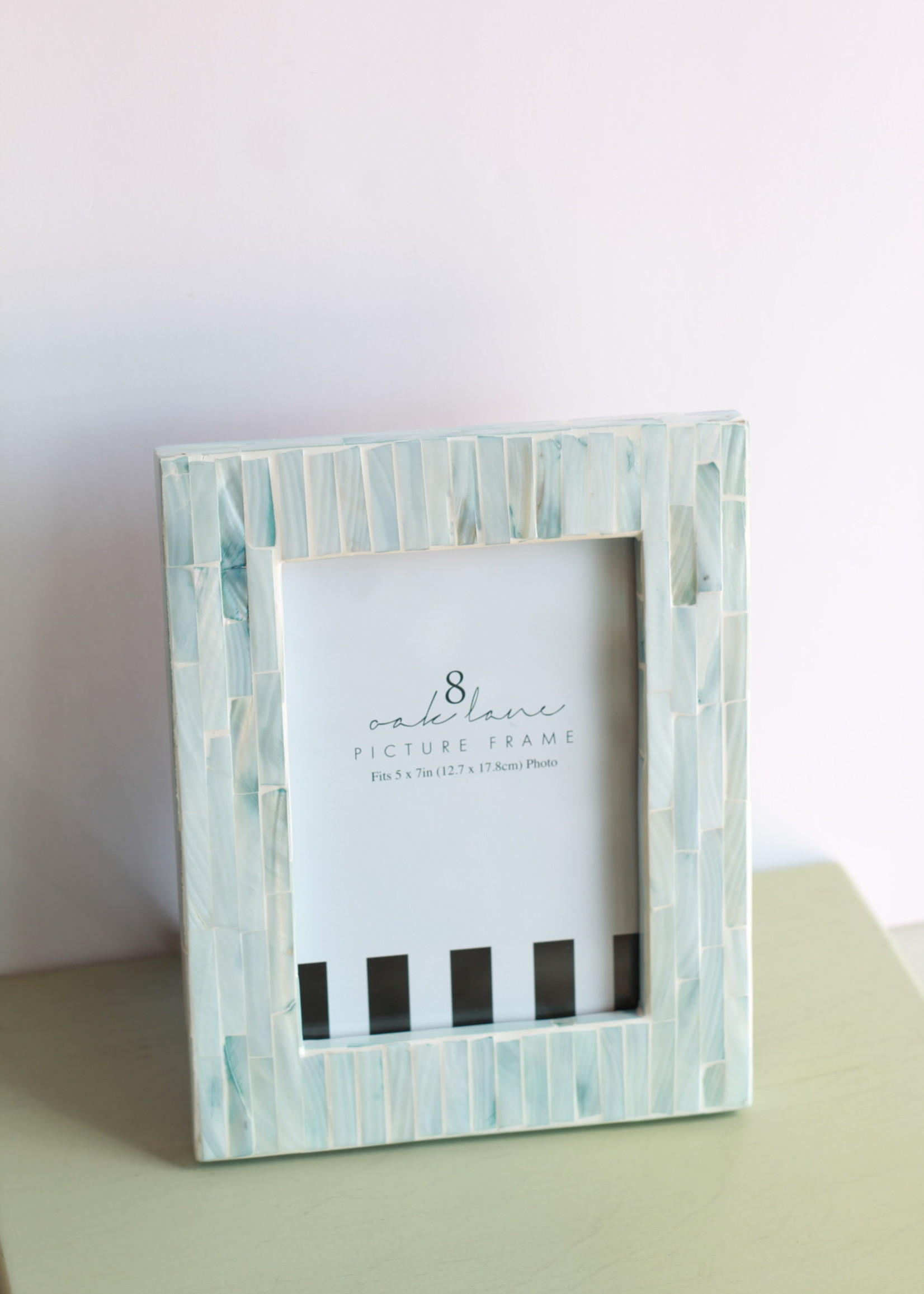Mother of Pearl 5x7 Blue Frame