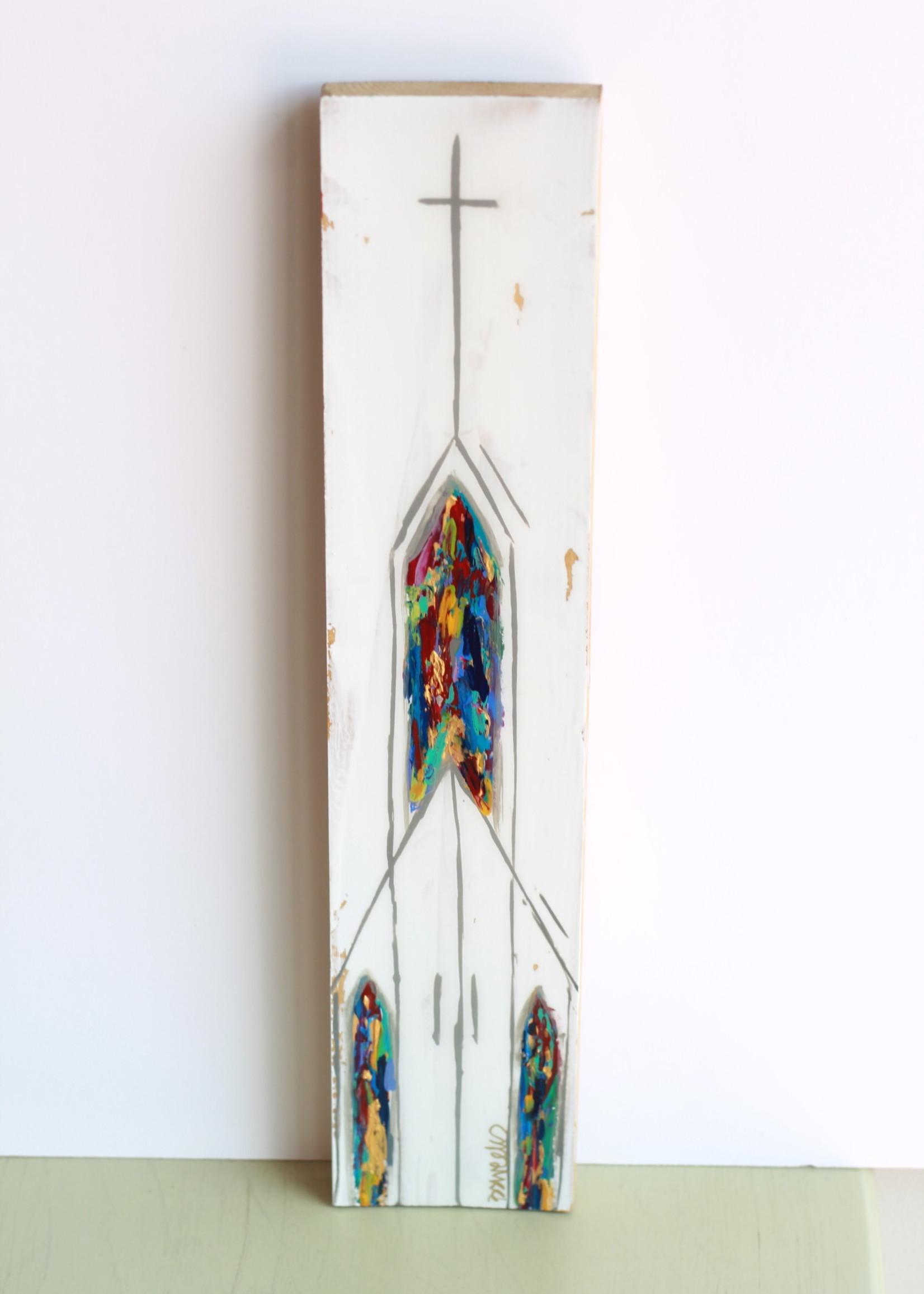 BJ Weeks BJ Weeks Churches on Wood I 4x16