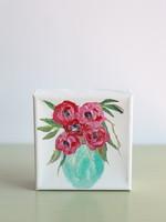 BJ Weeks BJ Weeks Floral 4x4 Paintings  Pink III