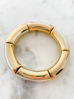 Mod Miss Jewelry Gold Bamboo Color Pop Bracelet  Large