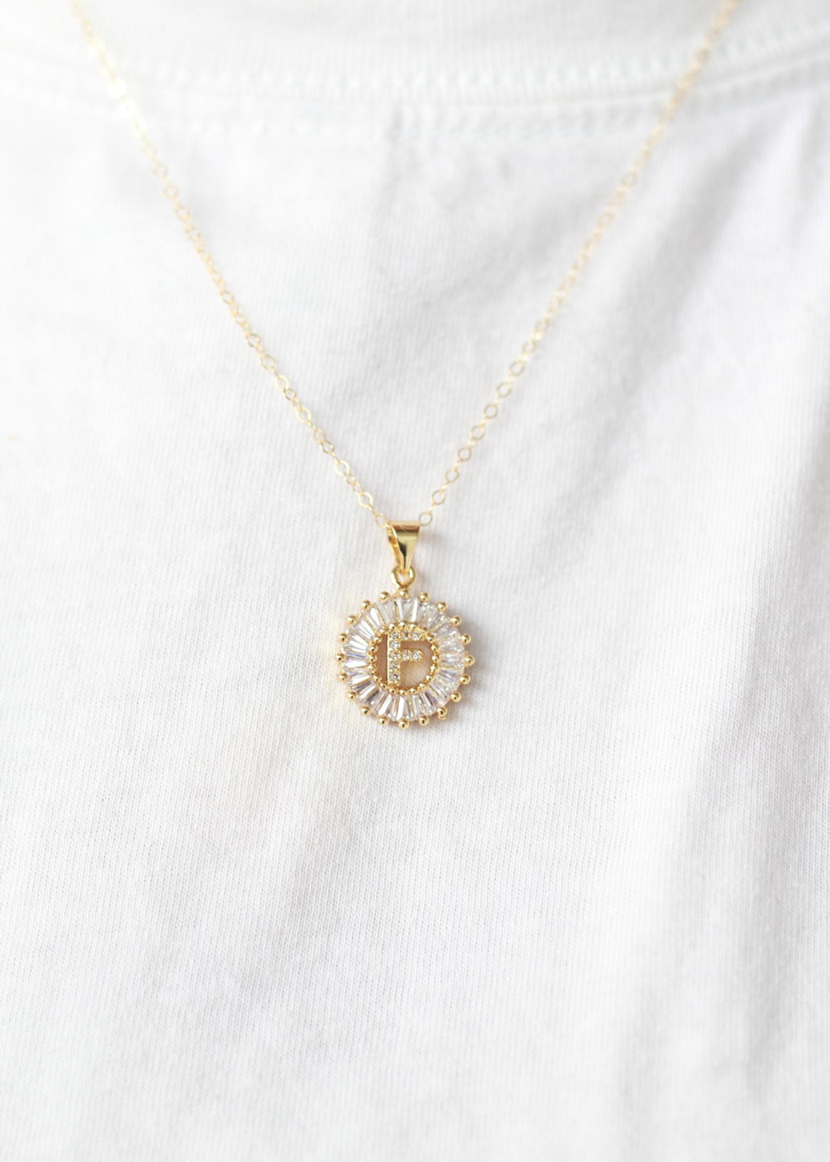 Bofemme Bofemme Crystal Initial Necklace F
