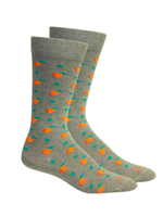 Peaches in Heather Grey Socks