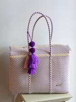 Valerosa Boutique Shades of Lavender Dia Duffle Bag With Purple Tasslel