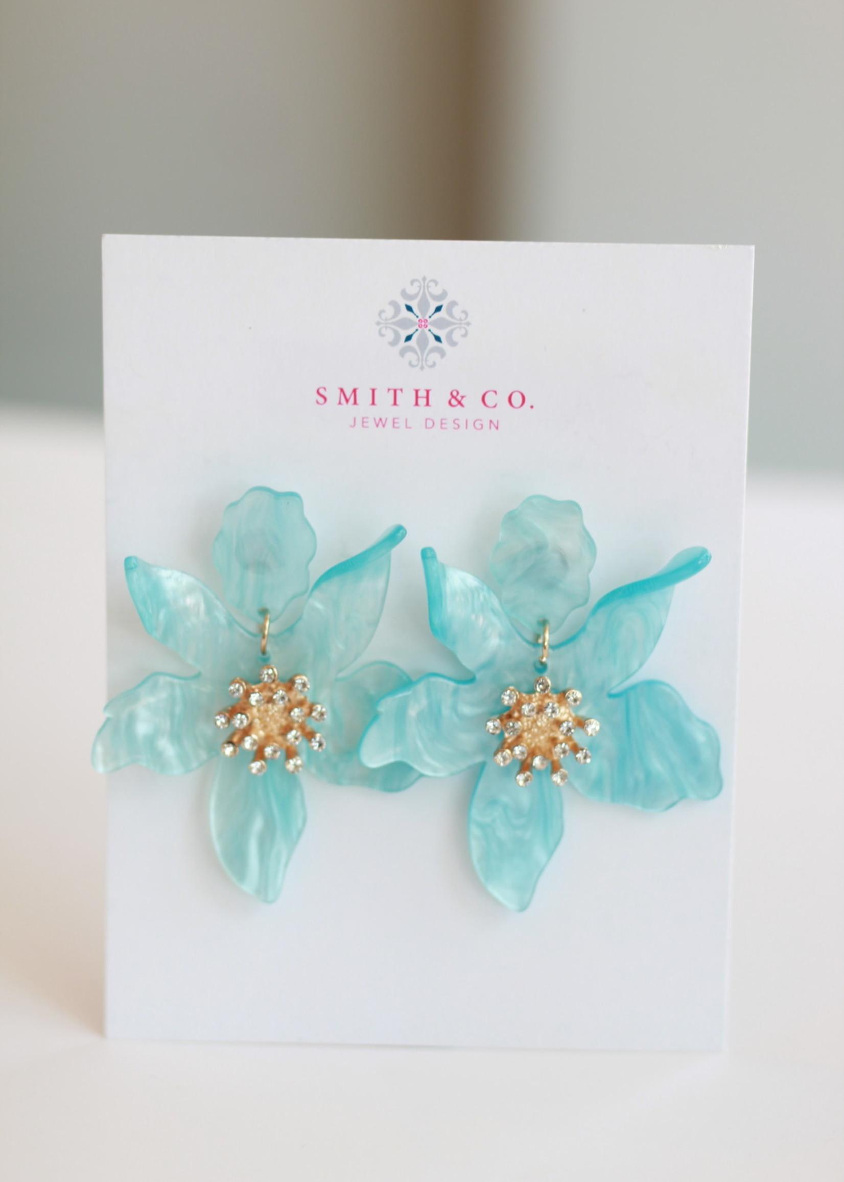 Smith & Co LS SFY Stella Earring-Aqua