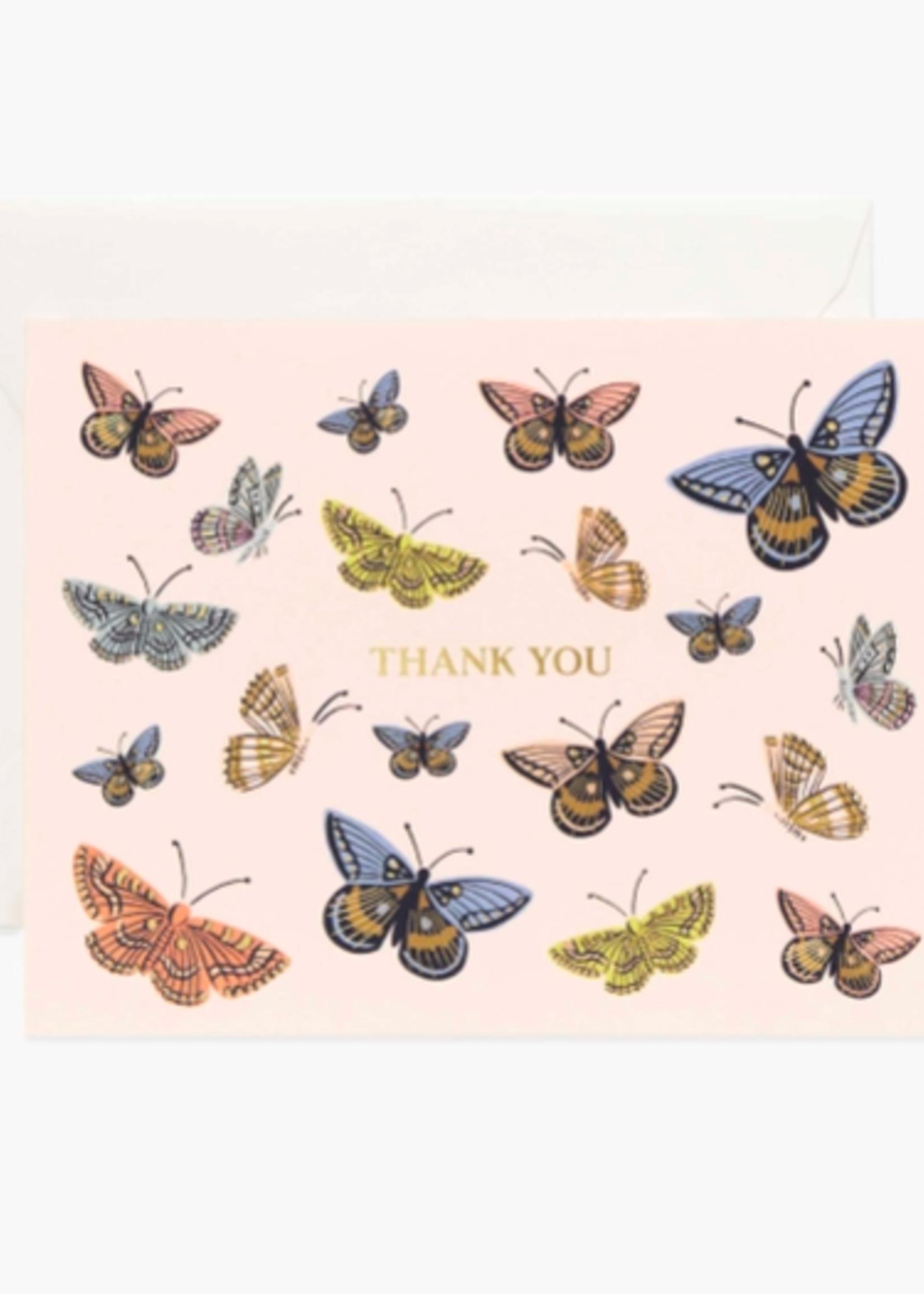 Monarch Thank You Card