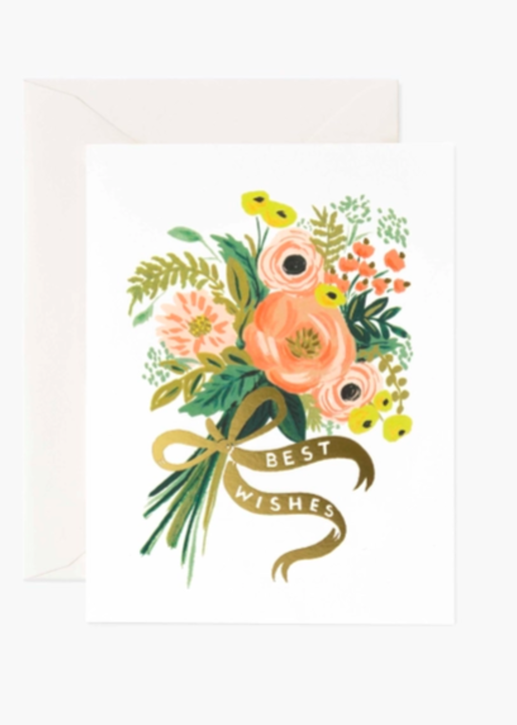 Best Wishes Bouquet Card