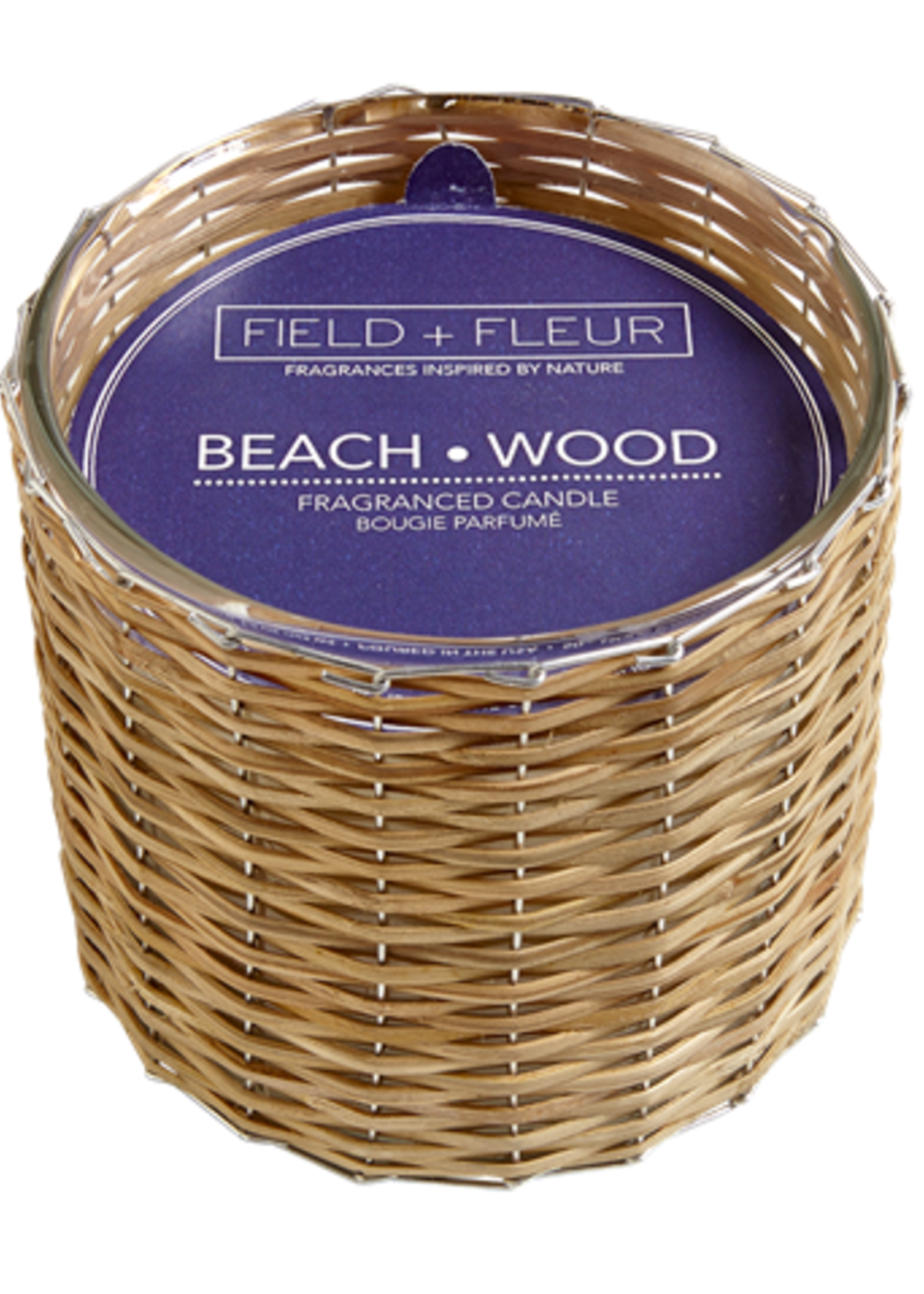 Hillhouse Naturals Beach Wood 2 Wick Handwoven Candle