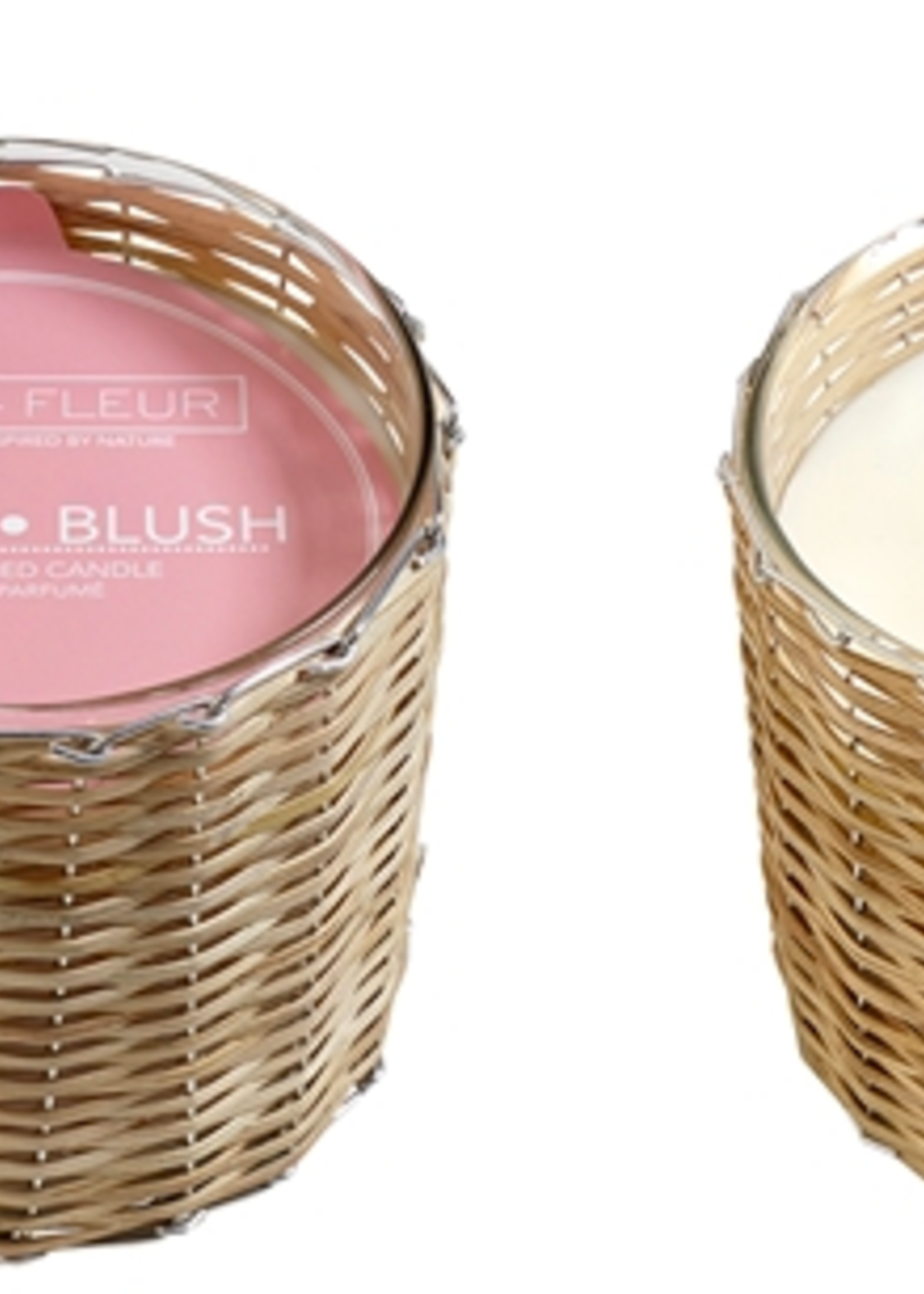 Hillhouse Naturals Peony Blush 2 Wick Handwoven Candle