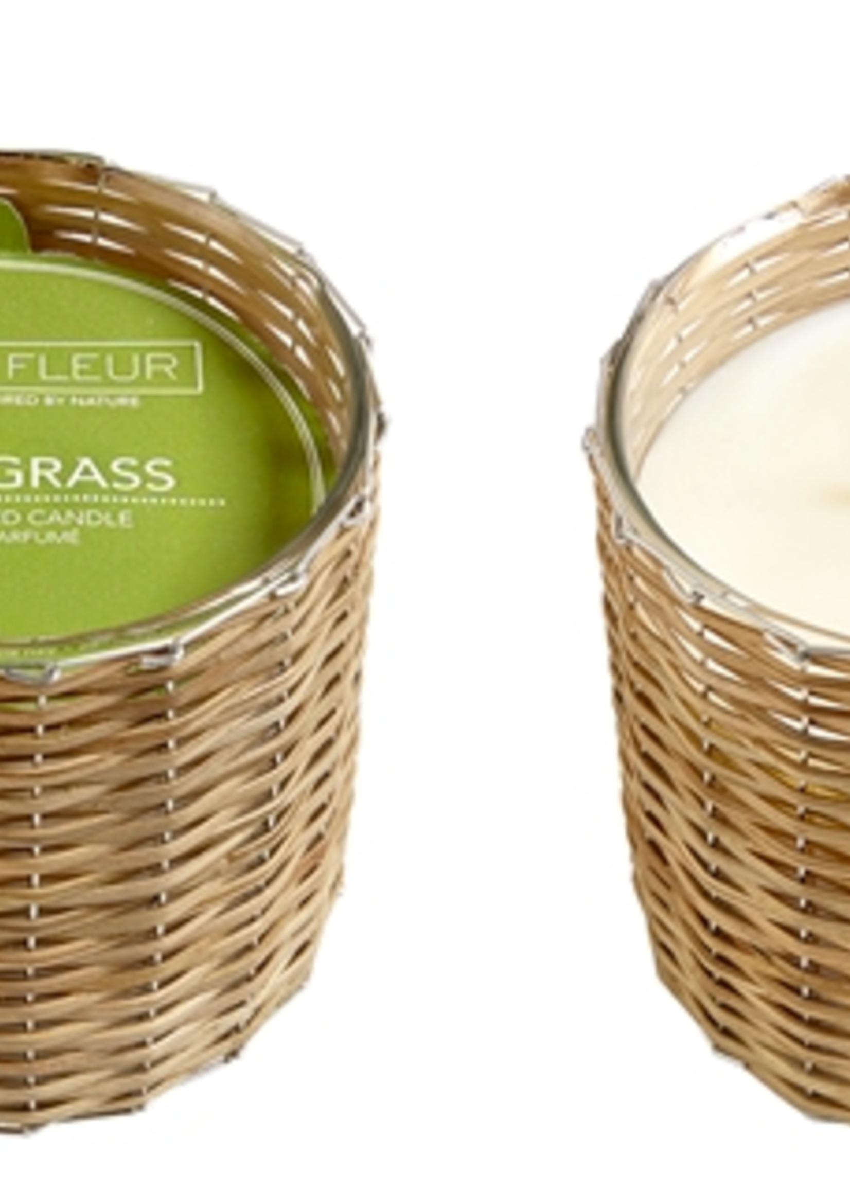 Hillhouse Naturals Cut Grass 2 Wick Handwoven Candle