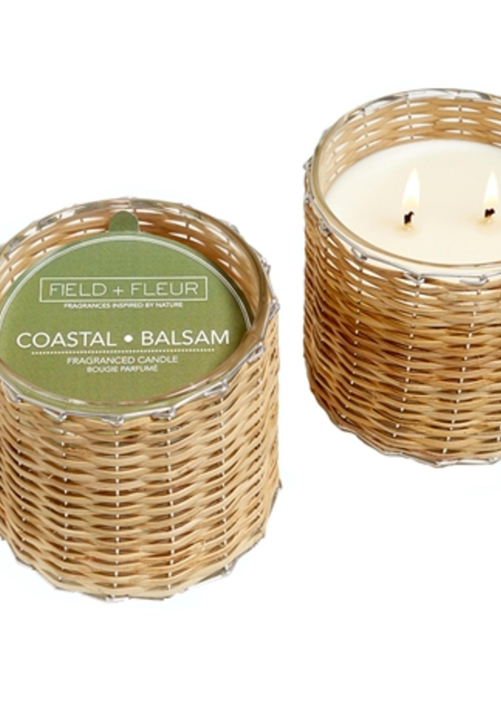 Hillhouse Naturals Coastal Balsam 2 Wick Handwoven Candle