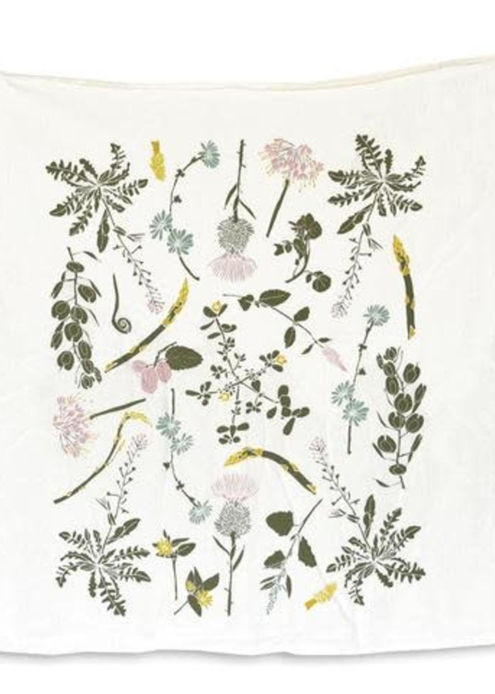 June & December Edible  Wilds Tea Towel