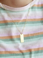Allison Conway AC Rectangle Bar Necklace